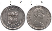 Изображение Монеты Родезия 10 центов 1964 Медно-никель UNC-