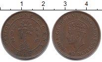 Изображение Монеты Цейлон 1 цент 1942 Бронза XF-