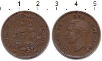 Изображение Монеты ЮАР 1/2 пенни 1940 Бронза XF