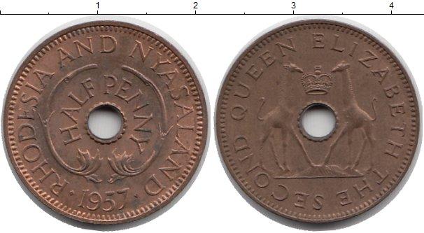 Картинка Монеты Родезия 1/2 пенни Бронза 1957