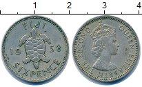 Изображение Монеты Фиджи 6 пенсов 1958 Медно-никель XF