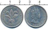 Изображение Монеты Нигерия 1 шиллинг 1962 Медно-никель XF Елизавета II