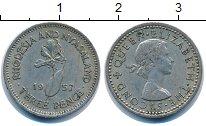 Изображение Монеты Родезия 3 пенса 1957 Медно-никель XF-