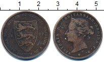 Изображение Монеты Остров Джерси 1/24 шиллинга 1877 Бронза VF Виктория