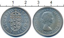 Изображение Монеты Великобритания 1 шиллинг 1953 Медно-никель XF+ Коронация Елизаветы