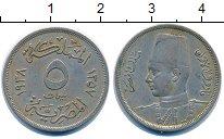 Изображение Монеты Египет 5 мильем 1938 Медно-никель XF