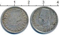 Изображение Монеты Египет 2 пиастра 1942 Серебро XF-