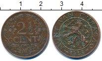 Изображение Монеты Нидерланды Кюрасао 2 1/2 цента 1948 Бронза XF-