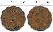 Изображение Монеты Египет 5 мильем 1943 Бронза XF
