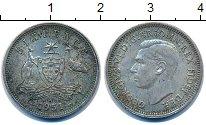 Изображение Монеты Австралия 6 пенсов 1951 Серебро XF-