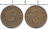 Изображение Монеты Третий Рейх 5 пфеннигов 1939 Латунь VF