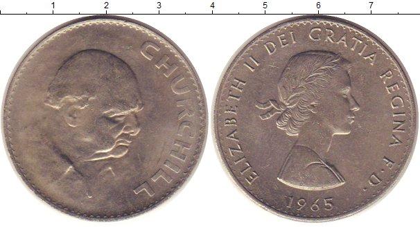 Картинка Монеты Великобритания 1 крона Медно-никель 1965