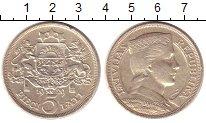 Изображение Монеты Латвия 5 лат 1929 Серебро XF