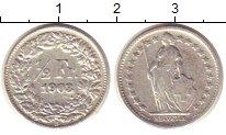 Изображение Монеты Швейцария 1/2 франка 1903 Серебро VF В