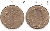 Изображение Монеты Монако 10 сентим 1962 Медь XF