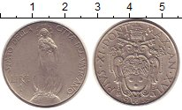Изображение Монеты Ватикан 1 лира 1937 Медно-никель XF Понтифик  Пий XI.