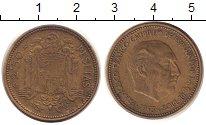 Изображение Монеты Испания 2 1/2 песеты 1953 Латунь XF Каудильо  Франциско