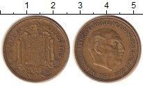 Изображение Монеты Испания 2, 1/2 песеты 1953 Латунь XF
