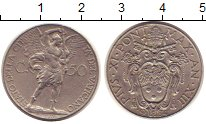 Изображение Монеты Ватикан 50 сентим 1934 Медно-никель XF