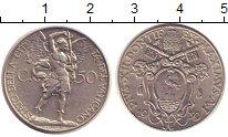 Изображение Монеты Ватикан 50 сентим 1939 Медно-никель XF