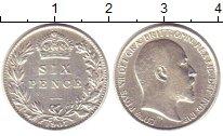 Изображение Монеты Великобритания 6 пенсов 1907 Серебро XF