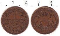 Изображение Монеты Германия Баден 1 крейцер 1868 Медь XF