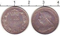 Изображение Монеты Великобритания 6 пенсов 1900 Серебро XF