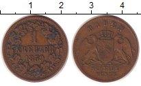 Изображение Монеты Германия Баден 1 крейцер 1859 Медь XF