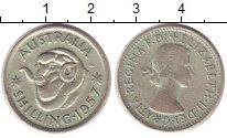 Изображение Монеты Австралия 1 шиллинг 1957 Серебро VF