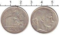 Изображение Монеты Бельгия 20 франков 1950 Серебро VF Лев.Меркурий