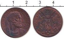Изображение Монеты Ватикан 10 сентесимо 1931 Медь XF