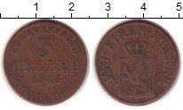 Изображение Монеты Гессен-Кассель 3 хеллера 1846 Медь VF