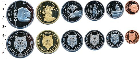 Изображение Наборы монет Резервация Хамул Индейцы Резервация Хамул Индейцы 2016 2016  UNC Ирокезы. В наборе 6