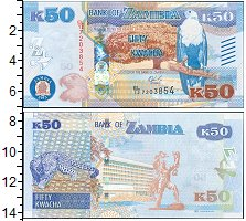 Изображение Банкноты Замбия 50 квач 2013  UNC-