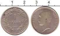 Изображение Монеты Бельгия 1 франк 1911 Серебро VF