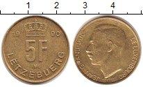 Изображение Монеты Люксембург 5 франков 1990 Латунь XF Жан - Великий  герцо