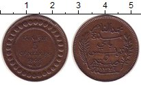 Изображение Монеты Тунис 5 сентим 1908 Медь XF