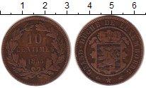 Изображение Монеты Люксембург 10 сантим 1855 Бронза VF