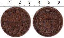 Изображение Монеты Люксембург 10 сантимов 1855 Бронза VF