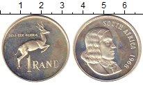 Изображение Монеты ЮАР 1 ранд 1968 Серебро Proof-