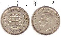Изображение Монеты Великобритания 3 пенса 1941 Серебро XF Георг VI.