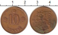 Изображение Монеты Финляндия 10 пенни 1936 Бронза VF
