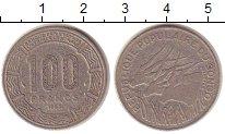 Изображение Монеты Конго 100 франков 1983 Медно-никель XF