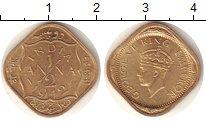 Изображение Монеты Индия 1/2 анны 1942 Латунь UNC-