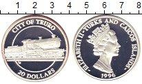 Изображение Монеты Теркc и Кайкос 20 долларов 1996 Серебро Proof