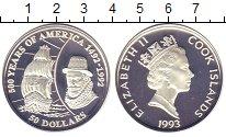 Изображение Монеты Новая Зеландия Острова Кука 50 долларов 1993 Серебро Proof-