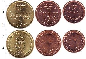 Изображение Наборы монет Швеция Швеция 2016 2016  UNC В наборе 3 монеты но