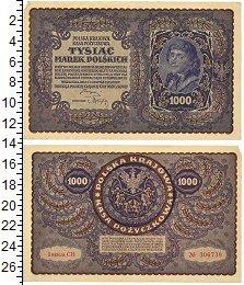 Изображение Банкноты Польша 1000 злотых 1919  XF