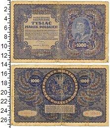 Изображение Банкноты Польша 1.000 злотых 1919  VF- 1000 марок польских