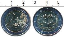 Изображение Мелочь Мальта 2 евро 2016 Биметалл UNC-